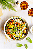 Black Lentil Salad with Tangerine Vinaigrette