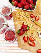 Strawberry and ginger jam