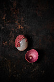 Lychee on dark background