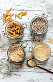 Grains, grain produce and pseudo grains