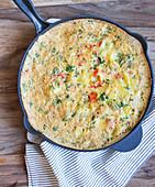 Spanische Tortilla in der Pfanne
