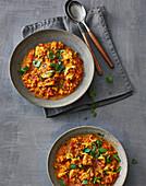 Indian lentil stew with chicken
