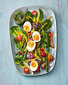 Salad Niscoise with herb vinaigrette
