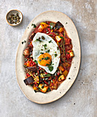 Ratatouille with a fried egg