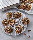 Choco cookies with nuts and seeds