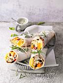 Vegan roast vegetable wraps 'To Go'