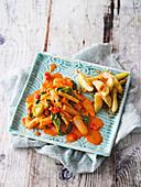 Vegan salsify tandoori dish