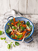 Stir-fried vegetables with fresh herbs