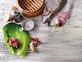 Ingredients for fish and meat dishes