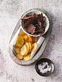 Selbstgemacht Wirsing- und Kartoffelchips