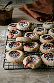 Thumbprint biscuits with caramel