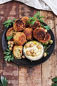 Falafel mit Hummus (vegan)