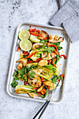 Grilled calamari with pak choi