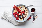 Bircher-style berry muesli