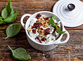 Italian quark spread with walnuts and dried tomatoes