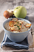 Apple and porcini risotto
