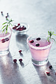 Cranberry and rosemary drink
