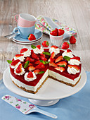 Strawberry lime cream cheesecake