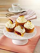 Plum Cupcakes with Mascarpone