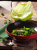 Vegane Gemüsesuppe mit Castelluccio-Linsen
