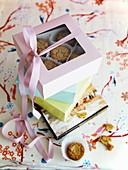 Muffins zum Verschenken in Geschenkschachteln verpackt