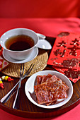 Pork jerky and tea (China)