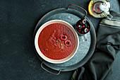 Gazpacho de cereza - cherry and tomato cold spanish creamy soup