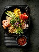 Hiyashi Chuka - Japanese summer salad with Mie noodles