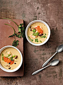 Chawan Mushi - Gedämpfter Eierpudding mit Samptkappen