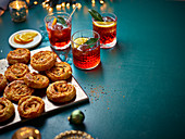 Windräder mit Kimchi, Käse und Frühlingszwiebeln