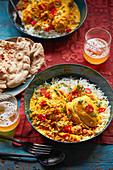 Chicken Korma nach afghanischer Art mit sauren Trockenpflaumen