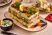 Fish terrine with caviar