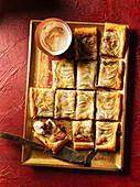 Mincemeat, marzipan and apple tarte fine