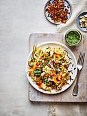 Karottenpilaf mit Korianderchutney