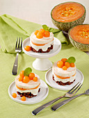 Yogurt melon tartlet