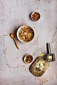 Savoury Oats with Poached Eggs, Shallots and Chili