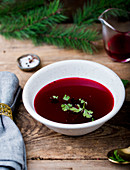 Barszcz - Traditional Polish beetroot soup