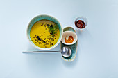 potato and fennel soup with turmeric and black cumin