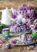 Lilac and macarons