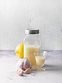 Cardiovascular treatment with lemon, garlic and apple vinegar