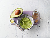 Anti-ageing treatment - peeling, facial toner and mask made from avocado