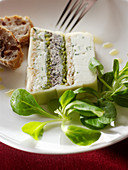 Cheese terrine with lamb's lettuce