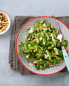 Lamb's lettuce with walnuts and a mustard dressing