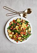 Kartoffel-Bohnen-Salat mit Räuchertofu