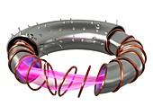 Stellarator fusion reactor, illustration