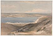 Sea of Galilee, 19th century illustration