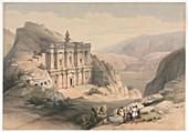 El Deir Petra, 19th century illustration