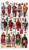 Ancient Roman fashion and accessories, illustration