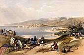 Sidon, Lebanon, 19th century illustration