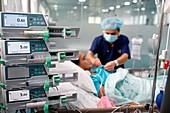 Intensive care unit, Ho Chi Minh City, Vietnam